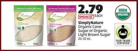 aldi organic sugar deal