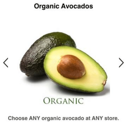 berry cart avocado