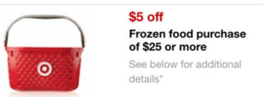 frozen foods target coupon