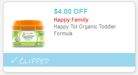 happy tot organic formula coupons