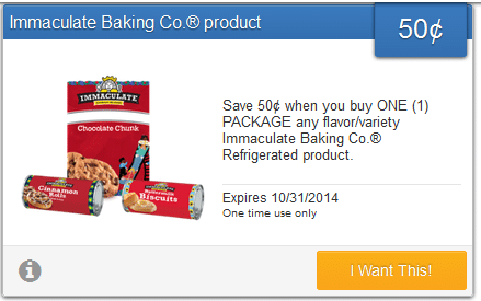 immaculate baking savingstar offer