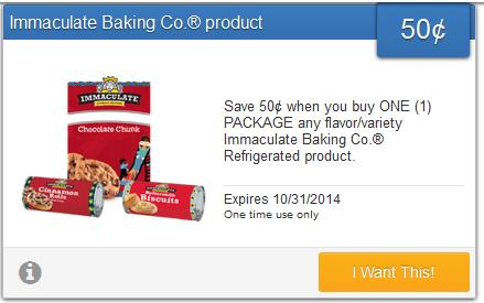 immaculate baking savingstar offer