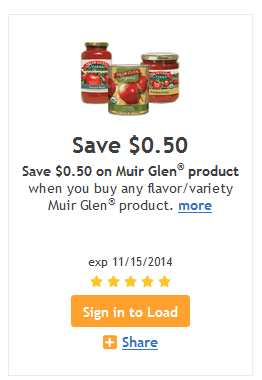 muir glen kroger coupon