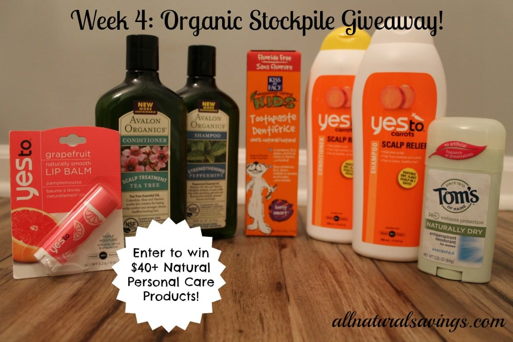 natural personal care products giveaway
