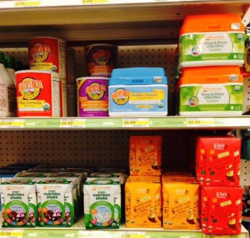 target organic toddler formula