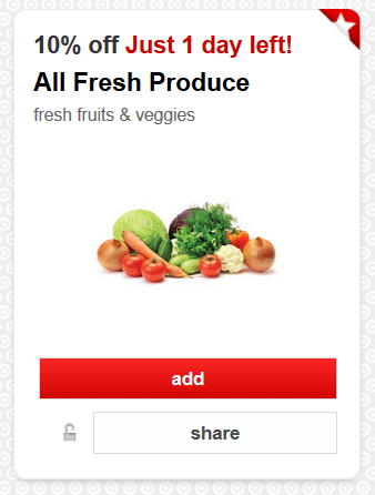 10 off fresh produce target