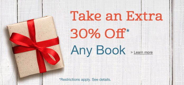 amazon 30 off any book