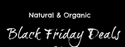 organic black friday deals 2014