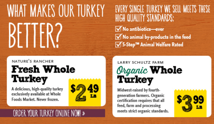 organic turkey deals