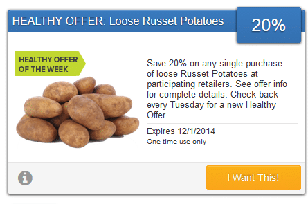 savingstar potatoes