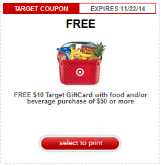 target 10 off 50 grocery coupon