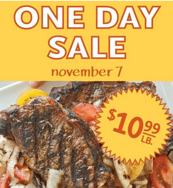 whole foods steak one day sale