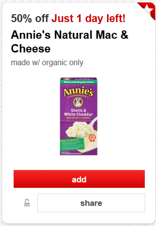annies mac and cheese target coupon