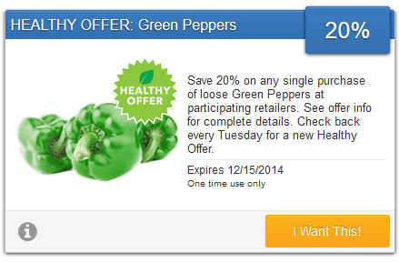 green peppers savingstar