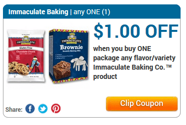 immaculate baking coupons