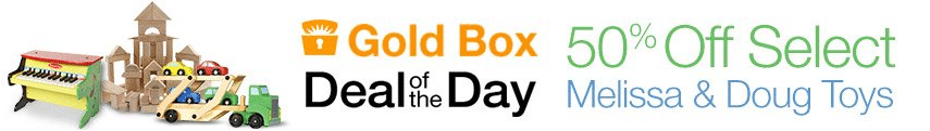 melissa and doug gold box deal