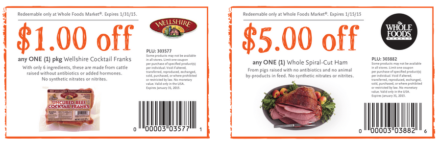 whole foods bonus couopns december 2014