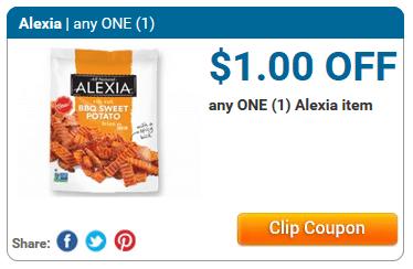 Alexia Organic Fries $0.50 at.