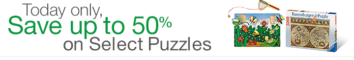 amazon 50 percent off puzzles