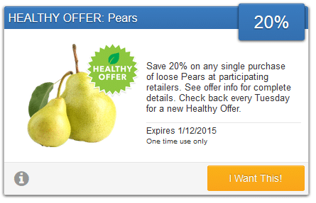 pear organic coupon