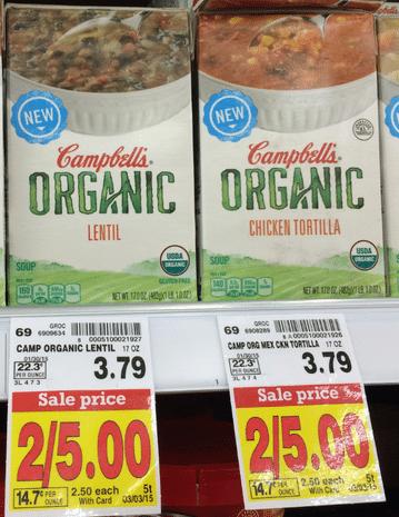 campbells organic soup kroger