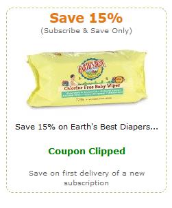 earth's best amazon diaper coupon