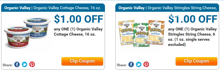 organic valley cheese coupons