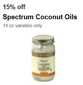 target spectrum coconut oil coupon
