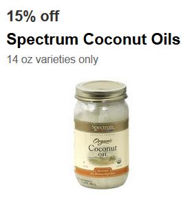 target spectrum coconut oil coupon