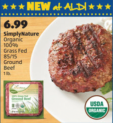 grass fed beef aldi