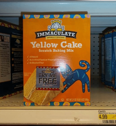 try me free immaculate baking cake