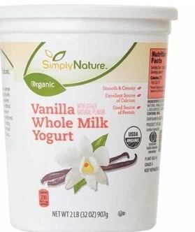 aldi organic yogurt