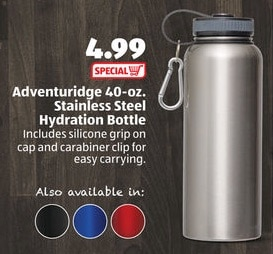 stainless steel water bottle aldi