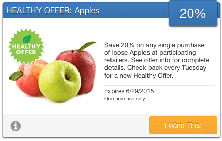 organic apples coupon