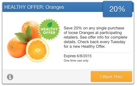 organic orange coupon