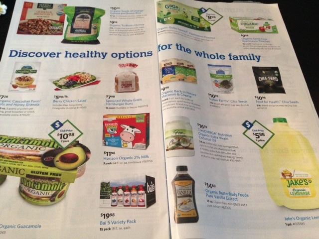 sam's club organic products