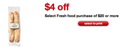 target fresh food coupon