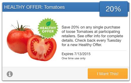 organic tomato coupon
