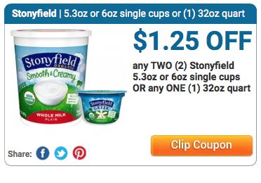 stonyfield organic yogurt coupon