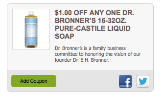 dr. bronners castile soap coupon