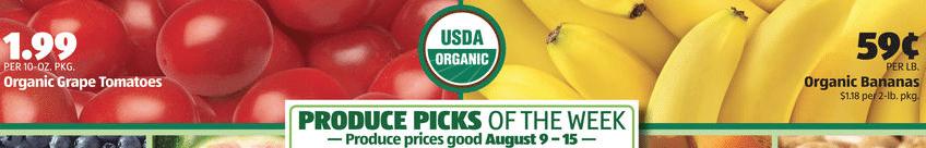 organic produce sale aldi