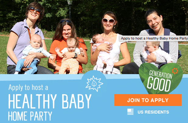 seventh generation healthy baby home party