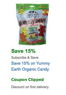 yummy earth coupon amazon