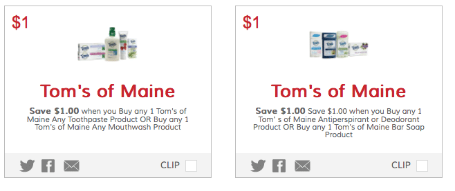 new tom's of maine coupons