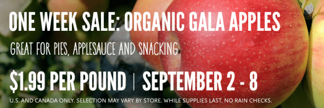 organic apples whole foods sale