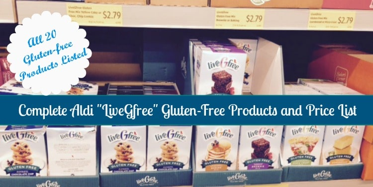 aldi livegfree product and price list