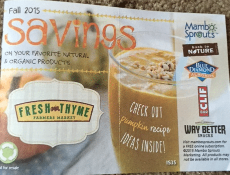 mambo sprouts in store organic coupon booklets