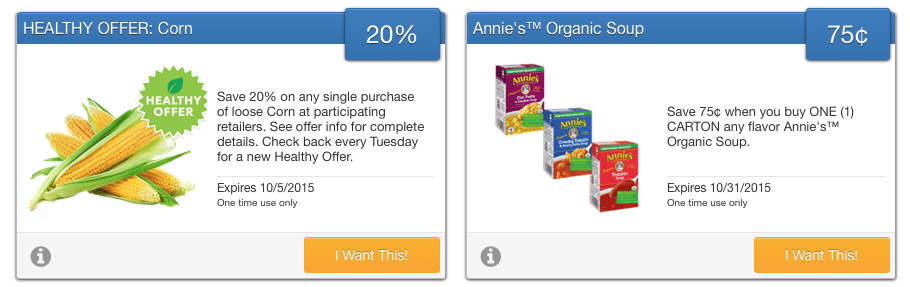new savingstar organic coupons