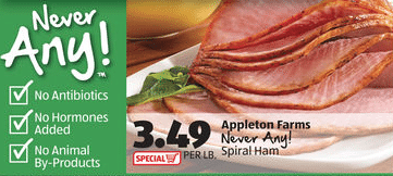 aldi antibiotic free ham