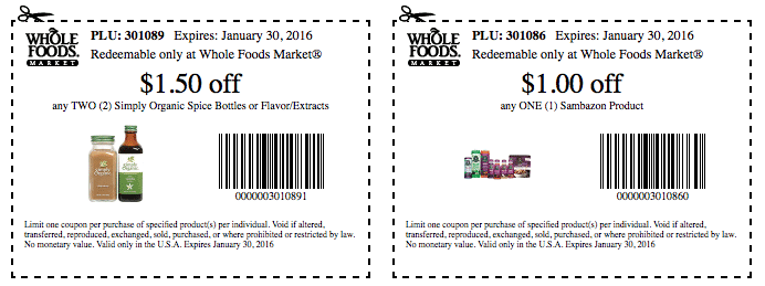 new whole deal organic coupons whole foods